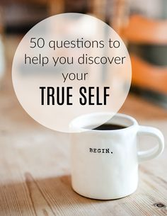 Do you ever wonder just who your true self is? If You are feeling a little lost then these questions will encourage your self reflection and a voyage of discovery to your true self and best self Improve Yourself, Finding Yourself, Authentic Self, Life Coaching, Health And Wellbeing, Beautiful Space, Stress Management, Best Self, Stress And Anxiety