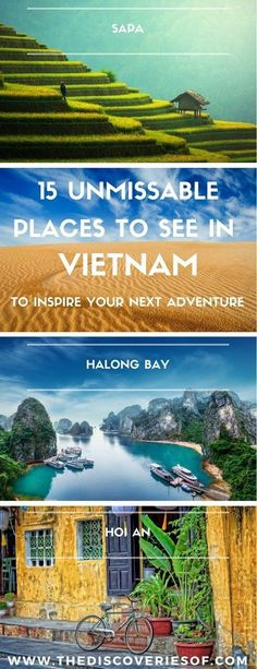 Vietnam is one of the year's hottest travel destinations. From Ho Chi Minh City to Hanoi, here are the 15 places you need to visit on your trip! Travel in Asia.