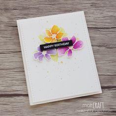 MOLT CRAFT + A buenas horas, mangas verdes (parte 2): empiezan los retos de 3flowers - retos de tarjetas + TARJETA FLORES + SIMON SAYS STAMP