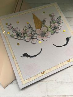 The Galia's Family: Una Card unicorno per un compleanno Diy Birthday, Birthday Cards, Happy Birthday, Unicorn Cards, Wedding Thanks, Animal Cards, Baby Scrapbook, Pegasus, Baby Cards