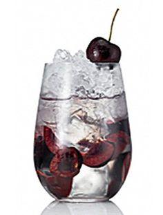 Cupid's Arrow Cocktail...vodka, Amaretto, cherries, lemon juice, bitters...