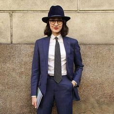 Ya know what goes great with a suit? A sweet hat. | 19 Badass Ladies Who Will Inspire You To Wear More Suits