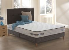 Sealy Brookshire Posturetech Spring Divan Bed with Legs - Firm Single Divan Beds, King Size, Mattress, Legs, Furniture, Home Decor, Spring, Decoration Home, Room Decor