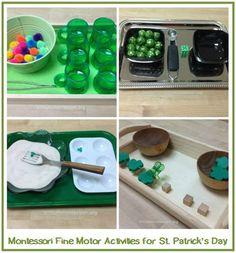 st patrick's day montessori | Montessori Fine Motor Activities for St. Patrick's Day- Trillium ...