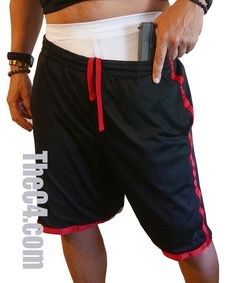Our original, Made In America, Men's Thigh Holster Shorts are a comfortable and cool way to carry in warm weather! Concealed Carry Clothing, Ccw Holsters, Just For Men, College Basketball, Warm Weather, Carry On, Thighs, Shorts, How To Wear