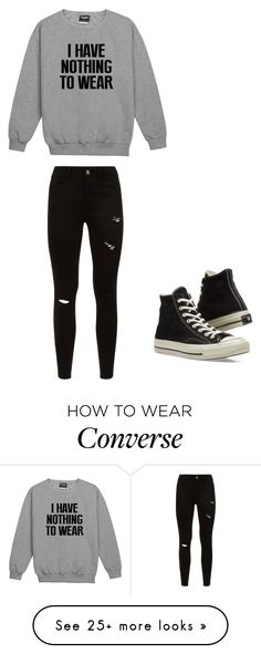 """I have nothing to wear"" by winchester-rose on Polyvore featuring Converse"