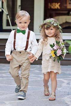 Ring Bearer And Flower Girl And#8211; Super Cute Wedding Guests ❤ See more: http://www.weddingforward.com/ring-bearer/ #weddings: