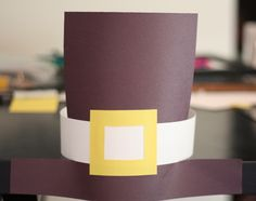 The kids will love making and wearing this fun pilgrim hat for Thanksgiving! See more Thanksgiving kids crafts on www.prettymyparty.com.