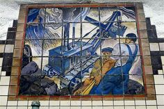 WPA Mural, Newark City Subway, Newark, NJ by mpadwee, via Flickr