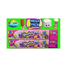 Two Mega Packs of Shopkins Season 2 Toys 40 Total Shopkin Kid Toys In All New!