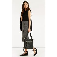 Buy Oasis Geometric Wrap Pencil Skirt, Black/White, 8 Online at johnlewis.com