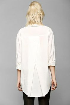 Silence + Noise Tucked Shirred Button-Down