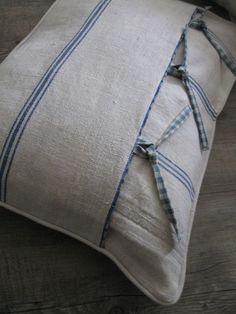 Throw Pillow with Tie Closures or Faux Closures.