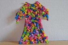 Tissue paper coat of colors