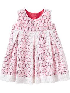 Empire Layered-Lace Dresses for Baby