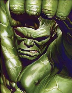 Hulk by Alex Ross.One of the best personal images of this amazing character… Comic Book Artists, Comic Book Characters, Marvel Characters, Comic Artist, Comic Character, Comic Books Art, Hulk Marvel, Marvel Comics Art, Ms Marvel