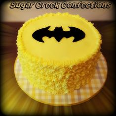 Batman Smash cake baby's first birthday by Sugar Creek Confections
