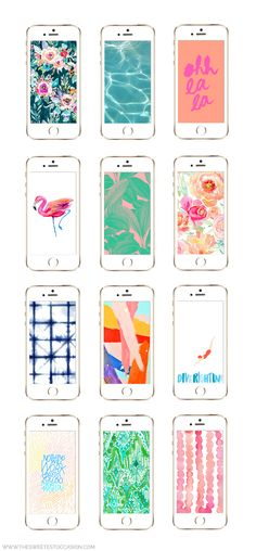 Visit The Sweetest Occasion for 12 awesome summer iPhone wallpaper designs and hundreds of summer entertaining ideas!