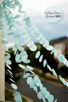 Vellum Paper Garland. Smart, Cute & Oh So Creative.