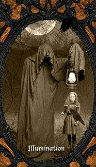 Oracle of Shadows - A creepily unique card oracle of thrills and chills - for divination, Samhain/Halloween, anytime shadow work, or just fun! Created from dark and strange vintage imagery, the. Samhain Halloween, Tarot, Creepy, Chill, Darth Vader, Coffin, Decks, Shadows, Rabbit