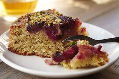 Cherry, Pistachio. coconut cake. Use ground cardamom instead of mahleb.