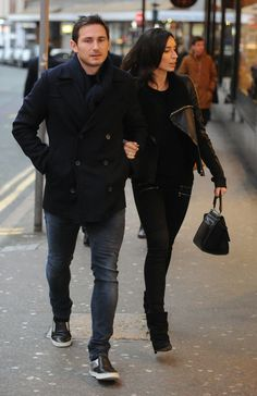 Frank Lampard and Christine Bleakley seen leaving San Carlo on King Street West on Sunday