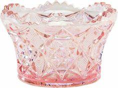 Diamond-Cut Glass Candy Dish, a Handcrafted Keepsake From Mosser