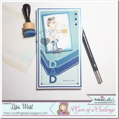 Designed by DT Lisa West using Dave with Beer Pink Cards, Southern Girls, Spectrum Noir, Digi Stamps, Copic, Happy Friday, Colouring, I Card, Gem
