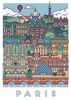 Ознакомьтесь с этим проектом @Behance: «Graphical posters of Paris & London» https://www.behance.net/gallery/31845565/Graphical-posters-of-Paris-London