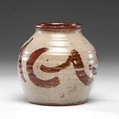 William Staite Murray (1881-1962; Britain), Vase, with slip decoration, stoneware ht. 7, dia. 6.5 in.