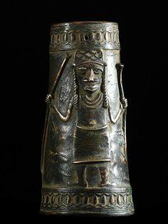 Africa | Ankle Bracelet. Bini/Edo peoples, Nigeria | Bronze | ca. 1960s