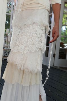 ❥ Lace layers skirt, beautiful!!