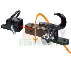 ATV Tow Trailer Hitch with 2 Ball This change will be made to my truck before Theuns Tow Trailer, Atv Trailers, Trailer Build, Utility Trailer, Trailer Hitch, Accessoires Quad, Atv Gear, Camo Truck, Tractor Implements