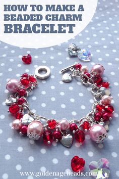 How to make a beautiful beaded charm bracelet - perfect to give as a gift to someone special (or just enjoy for yourself)!