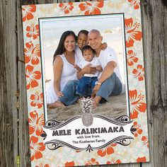 Hawaiian Holiday Mele Kalikimaka Christmas by partymonkey on Etsy, $15.00