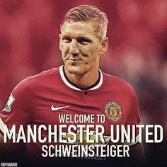 Bastian Schweinsteiger is RED  #WelcomeBastian #mufc