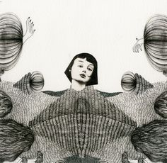 Jinzhen Liang by Medium Rare Year Show , via Behance Story Inspiration, Drawing Sketches, Pencil Drawings, Beautiful Patterns, Illustration Art, Artsy, Graphic Design, Black And White, Painting