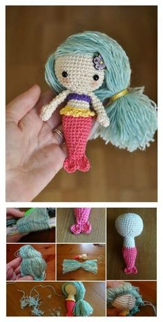 Crochet Amigurumi Mermaid Free Pattern