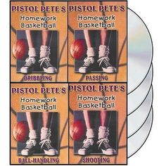 Pistol Petes Homework Basketball – 4 DVDs, by Pete Maravich