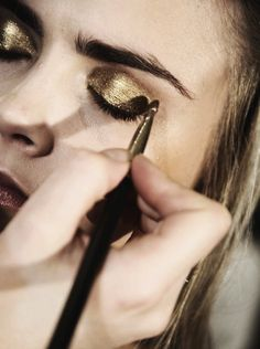 Gold foiled eye shadow