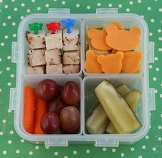 School lunches.  I love these Bento Box ideas so much i want to shrink my son Josh back down so I can do it!  Actually this would be a great lunch for adults, though one might not do the teddy shaped cheese, but I would enjoy it being a kid in a 58 y.o. body! :D  For kids I would also include and I love you or encouraging note with it!