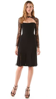 Gorgggeous, NEED this dress -- Reem Acra Long Sleeve Lace Cocktail Dress