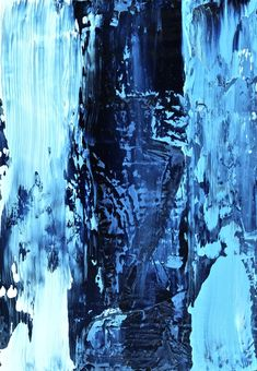 Text Me Never More - minimal blue abstract art by Jacek Sikora