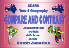 This activity consists of 20 venn diagrams; Australia compared and contrasted with 10 African countries and 10 South American countries. Each venn diagram comes with the related map and flag for each country. All children need to do is research their allocated country and record the information on the venn diagrams. Makes a great display for open nights.