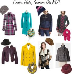 a few ideas for adding layers to your winter photo session...with coats and scarfs and hats...a perfect way to stay warm and also get alot of variety and different looks during your session!