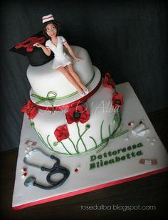 Nursing Degree Cake by Rose D' Alba cake designer