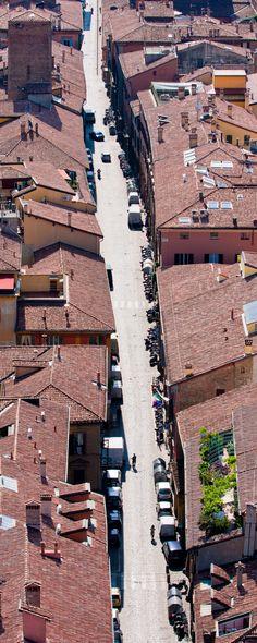 Bologna - Adelini Riccardo - Via Santo Stefano vista dalla Torre degli Asinelli