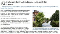 Largest urban wetland park in Europe to be created in Walthamstow http://www.homesandproperty.co.uk/property_news/news/walthamstowonthewaterlearnshowtoattractbuyers.html