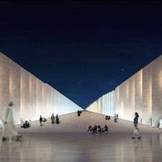 """The traffic design competition announced winners of its multi-discipline design competition. The winner of the Mosque category is RUX with their entry """"The Vanishing Mosque""""."""