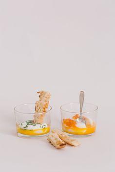 huevos a la copa con sabores